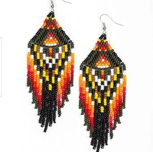 Boho Blast Seedbead earrings